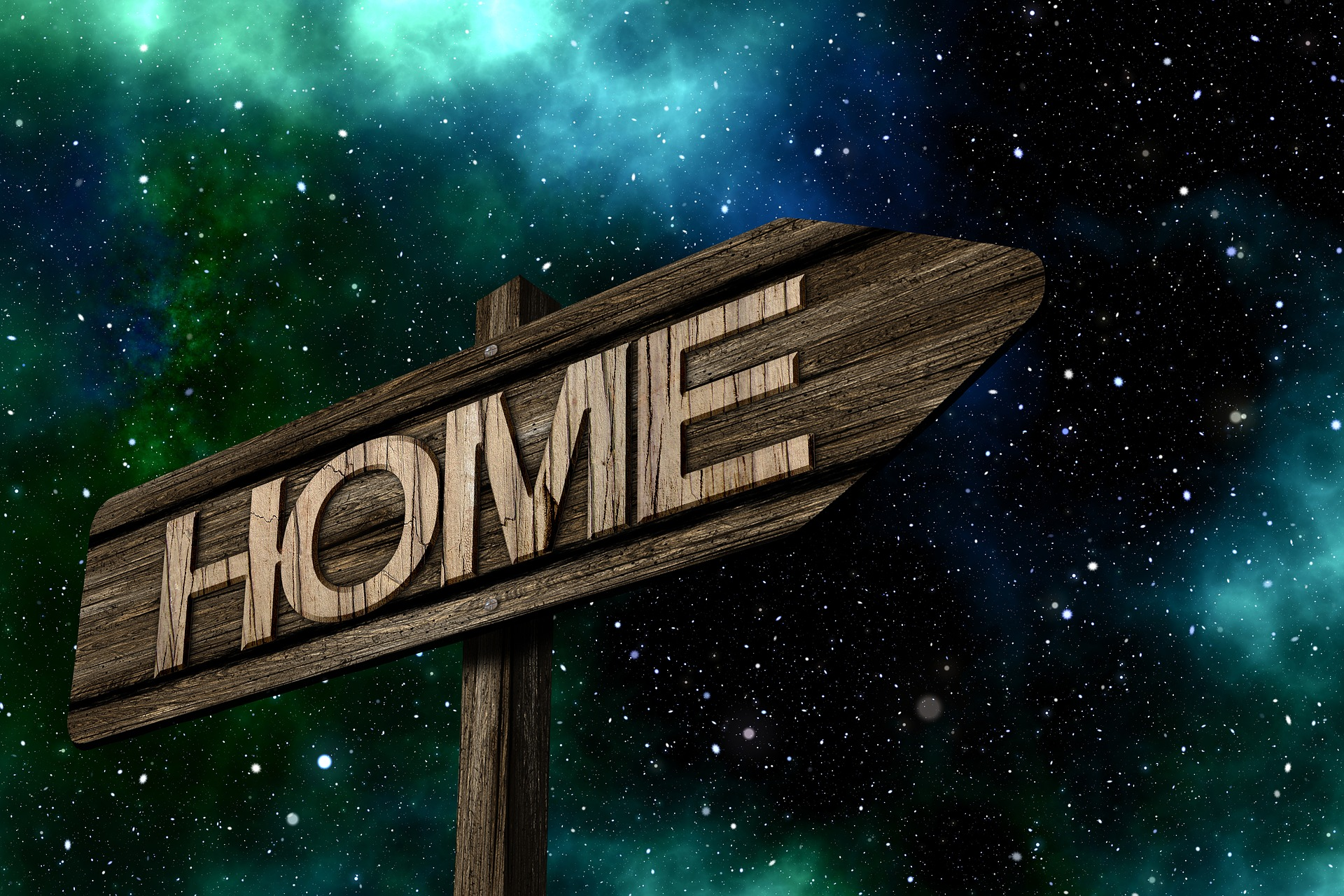 Find Your Way Home Image With Universe Background